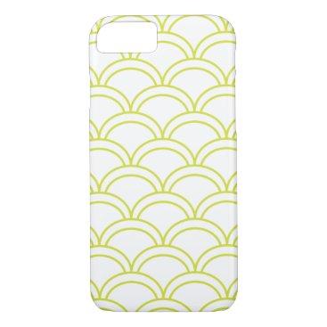 Beach Themed Light Green Waves Pattern Nautical iPhone 8/7 Case