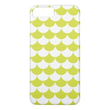 Beach Themed Light Green Waves Pattern Nautical iPhone 8 Plus/7 Plus Case