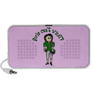 Light Green Womens Football Notebook Speaker