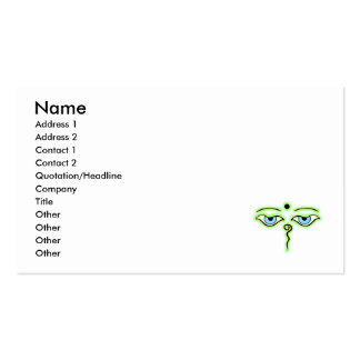 Light Green Yellow Buddha Eyes.png Business Cards