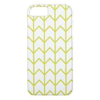 Light Green Zigzag Chevron Pattern iPhone 7 Case