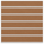 [ Thumbnail: Light Grey and Brown Lined Pattern Fabric ]