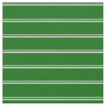 [ Thumbnail: Light Grey and Dark Green Colored Lines Fabric ]
