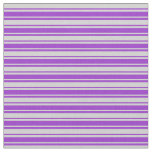 [ Thumbnail: Light Grey and Dark Orchid Colored Pattern Fabric ]