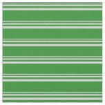 [ Thumbnail: Light Grey and Forest Green Colored Pattern Fabric ]