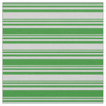 [ Thumbnail: Light Grey and Forest Green Pattern Fabric ]