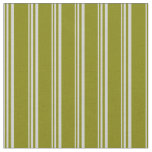[ Thumbnail: Light Grey and Green Colored Lines Fabric ]