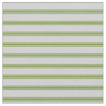 [ Thumbnail: Light Grey and Green Colored Stripes Fabric ]