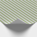 [ Thumbnail: Light Grey and Green Colored Stripes Wrapping Paper ]