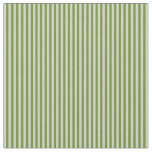 [ Thumbnail: Light Grey and Green Striped Pattern Fabric ]