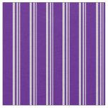 [ Thumbnail: Light Grey and Indigo Stripes Pattern Fabric ]