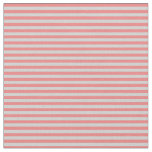 [ Thumbnail: Light Grey and Light Coral Colored Stripes Fabric ]