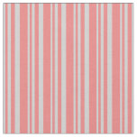 [ Thumbnail: Light Grey and Light Coral Lines/Stripes Pattern Fabric ]