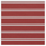 [ Thumbnail: Light Grey and Maroon Colored Lines Fabric ]