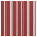 [ Thumbnail: Light Grey and Maroon Colored Striped Pattern Fabric ]
