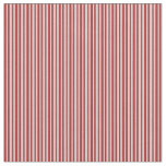 [ Thumbnail: Light Grey and Red Colored Lines Fabric ]