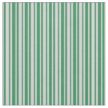 [ Thumbnail: Light Grey and Sea Green Stripes Fabric ]