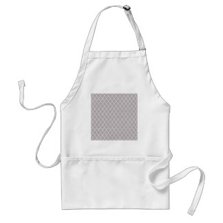 Light Grey And White Moroccan Trellis Pattern Aprons