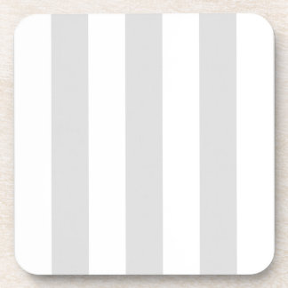 Light Grey and White XL Stripe Pattern Coaster