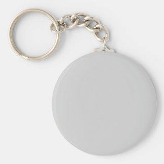 Light Grey Basic Round Button Keychain