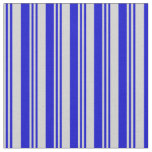[ Thumbnail: Light Grey & Blue Colored Lines Pattern Fabric ]