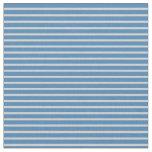 [ Thumbnail: Light Grey & Blue Colored Stripes Fabric ]