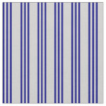 [ Thumbnail: Light Grey & Blue Colored Stripes Fabric ]