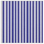 [ Thumbnail: Light Grey & Blue Pattern of Stripes Fabric ]