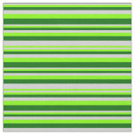 [ Thumbnail: Light Grey, Chartreuse & Dark Green Colored Lines Fabric ]