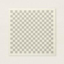 Light Grey Checkerboard Paper Napkin