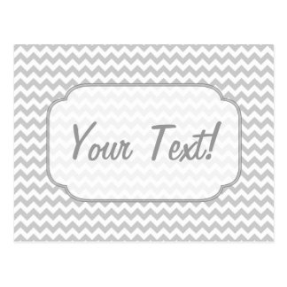 Light Grey Chevron - Custom Text Postcard