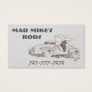 Light Grey Custom Business Cards