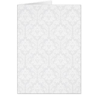 Light Grey Damask pattern Greeting Card