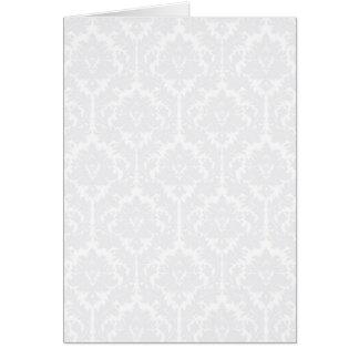 Light Grey Damask pattern Cards