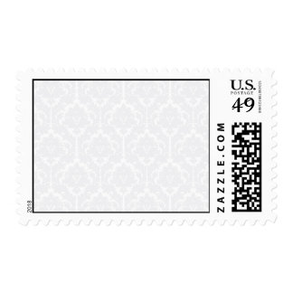 Light Grey Damask pattern Postage Stamp