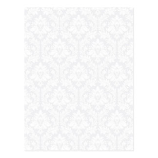 Light Grey Damask pattern Postcard
