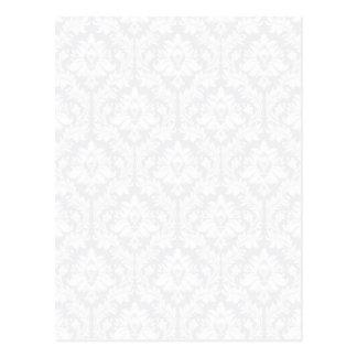 Light Grey Damask pattern Post Card