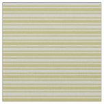 [ Thumbnail: Light Grey & Dark Khaki Lines/Stripes Pattern Fabric ]
