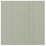 [ Thumbnail: Light Grey & Dark Olive Green Colored Pattern Fabric ]