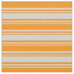 [ Thumbnail: Light Grey & Dark Orange Colored Pattern Fabric ]