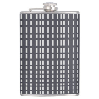 Light Grey Dotted Lines on Grey Flask