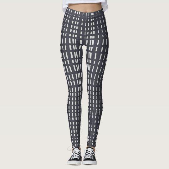 9aa965226ada98 Light Grey Dotted Lines on Grey Leggings | Zazzle.com