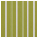 [ Thumbnail: Light Grey & Green Lined Pattern Fabric ]