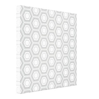 Light Grey Hex Tiled Canvas