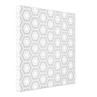 Light Grey Hex Tiled Canvas