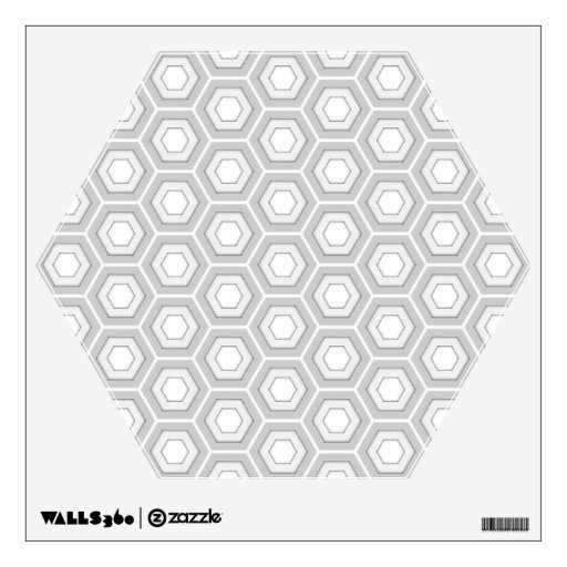 Light Grey Hex Tiled Wall Decal