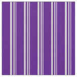 [ Thumbnail: Light Grey & Indigo Colored Lines Pattern Fabric ]