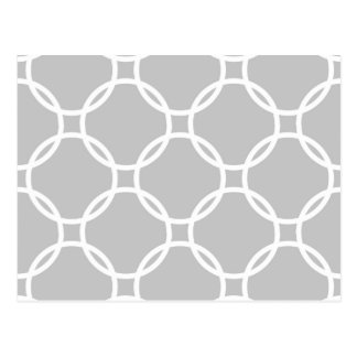 Light Grey Interlock Circles Postcard