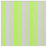 [ Thumbnail: Light Grey & Light Green Pattern Fabric ]