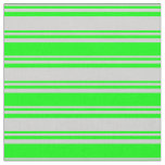 [ Thumbnail: Light Grey & Lime Colored Lined Pattern Fabric ]